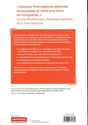Atlas de la francophonie ; le français, plus qu'une langue - 4ème de couverture - Format classique