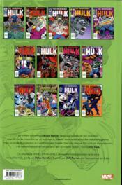 Hulk ; INTEGRALE VOL.4 ; 1989 - 4ème de couverture - Format classique