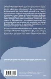Le rêve de l'assimilation ; de la Grèce antique à nos jours - 4ème de couverture - Format classique