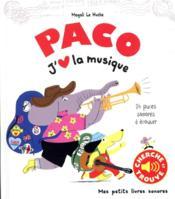 Paco. j'aime la musique - Couverture - Format classique