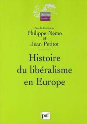 Histoire du libéralisme en europe - Intérieur - Format classique