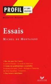 Essais de Michel de Montagne - Couverture - Format classique