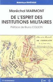 De L'Esprit Des Institutions Militaires - Intérieur - Format classique