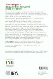 Hydrangea : acquisition nouvelles et applications - 4ème de couverture - Format classique