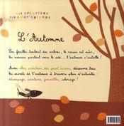 L'automne - 4ème de couverture - Format classique