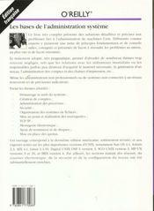 Les Bases De L'Administration Systeme - 4ème de couverture - Format classique