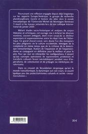 Expansions/Expansionnismes Dans Le Monde Transatlantique. Colloque In Ternational Tenu A Bordeaux, 2 - 4ème de couverture - Format classique
