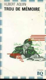 Trou De Memoire - Couverture - Format classique