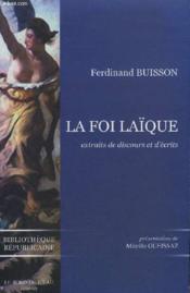 La foi laïque - Couverture - Format classique