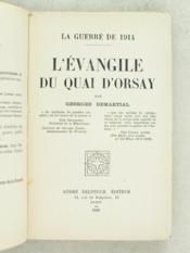 L'Evangile du Quai d'Orsay. La guerre de 1914 - Couverture - Format classique