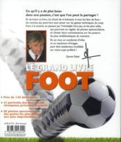Le grand livre du foot - 4ème de couverture - Format classique
