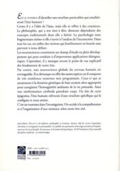 Neuroscience de l'être humain ; de la structure à l'existence - 4ème de couverture - Format classique