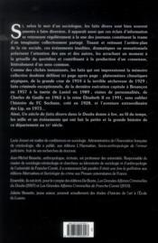 Un siècle de faits divers dans le Doubs - 4ème de couverture - Format classique