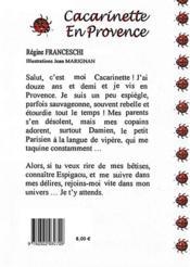 Cacarinette en Provence - 4ème de couverture - Format classique