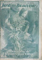 REVUE - JARDINS ET BASSES COURS - 17e ANNEE - N°344 - 20 OCTOBRE 1928 - MA RESERVE DE LEGUMES POUR L'HIVER - Couverture - Format classique