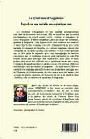 Le syndrome d'angelman ; regard sur une maladie neurogénétique rare - 4ème de couverture - Format classique
