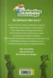 Au secours des ours ! - 4ème de couverture - Format classique