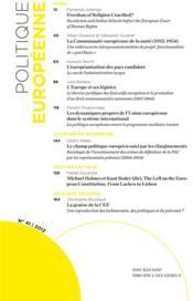 REVUE POLITIQUE EUROPEENNE T.41 ; varia - 4ème de couverture - Format classique