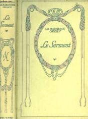 Le serment. - Couverture - Format classique