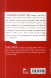 Le piège du bonheur ; édition illustrée - 4ème de couverture - Format classique
