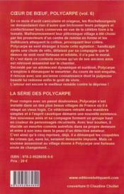 Polycarpe, Coeur De Boeuf, T.6 - 4ème de couverture - Format classique