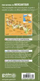 Parc national du Mercantour ; lac d'Allos, gorges de Daluis - 4ème de couverture - Format classique