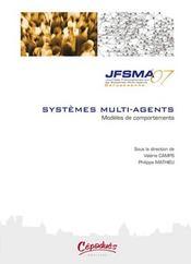 Systèmes multi-agents ; modèles de comportements - Intérieur - Format classique