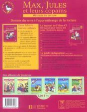 Max, Jules et leurs copains ; CP ; fichier de l'élève t.1 (édition 2006) - 4ème de couverture - Format classique