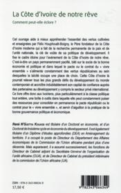 La Côte d'Ivoire de notre rêve ; comment peut-elle éclore ? - 4ème de couverture - Format classique
