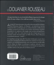 Le Douanier Rousseau - 4ème de couverture - Format classique