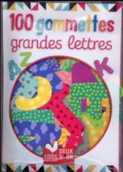100 petites gommettes ; lettres majuscules - Couverture - Format classique