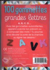 100 petites gommettes ; lettres majuscules - 4ème de couverture - Format classique