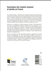 Dynamique des emplois exposés et abrités en France - 4ème de couverture - Format classique