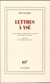 Lettres à Ysé - Couverture - Format classique