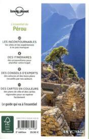 Pérou (2e édition) - 4ème de couverture - Format classique