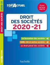 Top'actuel ; droit des sociétés (édition 2020/2021) - Couverture - Format classique