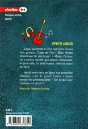 Coeur de pop T.2 ; première chanson - 4ème de couverture - Format classique