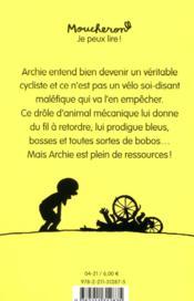 Archie à vélo - 4ème de couverture - Format classique