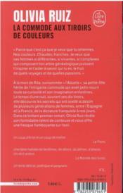 La commode aux tiroirs de couleurs - 4ème de couverture - Format classique