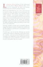 Precis de droit administratif et de droit public - reimpression de la 12e edition de 1933 - 4ème de couverture - Format classique