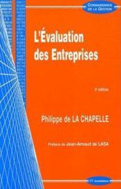 L'Evaluation Des Entreprises (3e Edition) - Couverture - Format classique