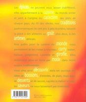 Epices, saveurs et couleurs - 4ème de couverture - Format classique