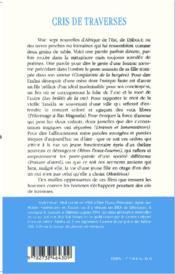 Cris De Traverses - 4ème de couverture - Format classique