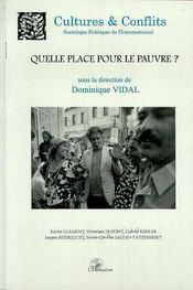 Revue Cultures & Conflits N.35 ; Quelle Place Pour Le Pauvre ? - Couverture - Format classique