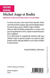 Michel-Ange et Rodin - 4ème de couverture - Format classique