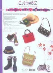 Customisez Vos Vetements Et Accessoires - 4ème de couverture - Format classique