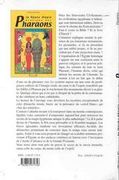 Haute Magie Pratique Des Pharaons - 4ème de couverture - Format classique