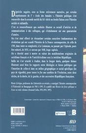 Revolutions et republiques: la france contemporaine - 4ème de couverture - Format classique