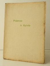 Poemes A Sylvie. - Couverture - Format classique
