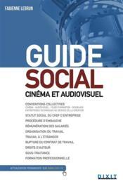 Guide social ; cinéma et audiovisuel - Couverture - Format classique